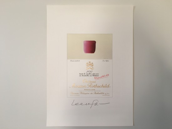 Mouton Rothschild's 2013 label design by Lee Ufan