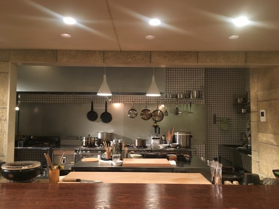 The studio set desined as a Japanese restaurant called Tokura