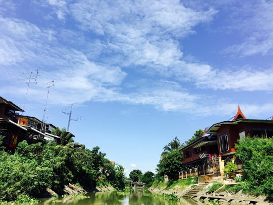 Boat cruise at Ayutthaya in Thailand